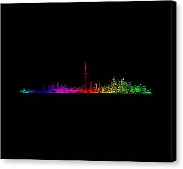 Toronto Rainbow Canvas Print by Brian Carson