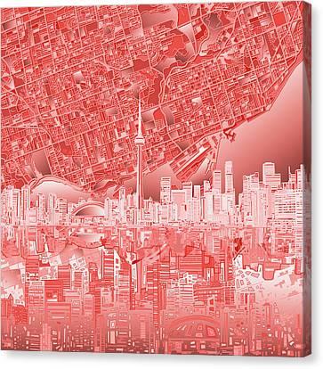 Toronto Skyline Abstract 3 Canvas Print