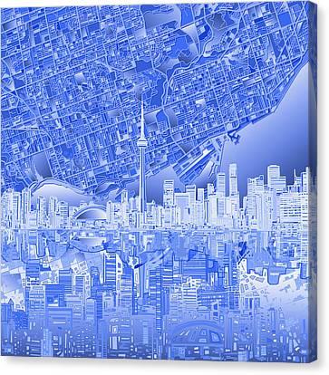 Toronto Skyline Abstract 4 Canvas Print