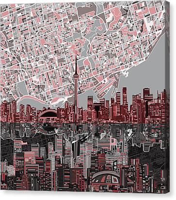 Toronto Skyline Abstract 5 Canvas Print