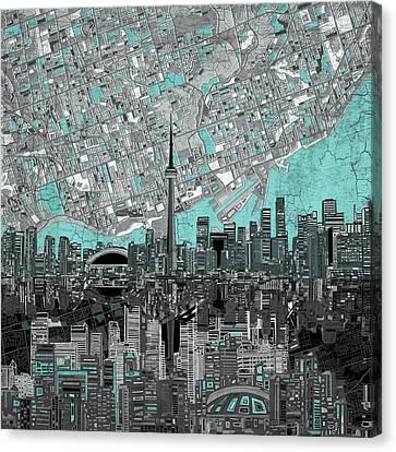 Toronto Skyline Abstract 6 Canvas Print
