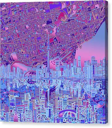 Toronto Skyline Abstract 8 Canvas Print