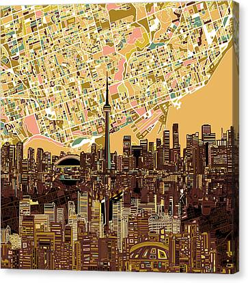 Toronto Skyline Abstract 9 Canvas Print