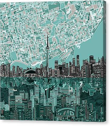 Toronto Skyline Abstract Canvas Print