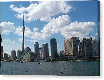 Canvas Print featuring the photograph Toronto Skyline by Barbara McDevitt
