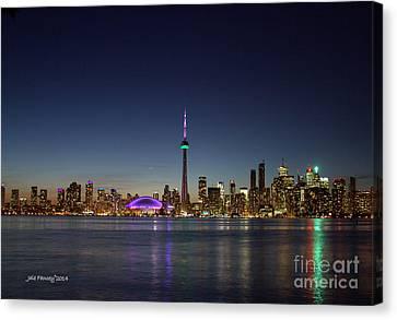 Toronto Skyline Colours Canvas Print
