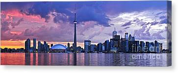 Architecture Canvas Print - Toronto Skyline by Elena Elisseeva