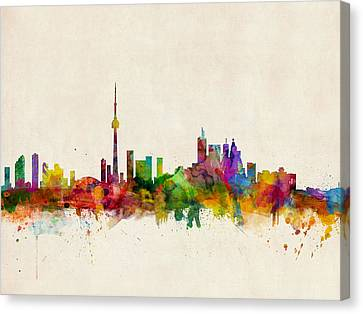 Toronto Skyline Canvas Print by Michael Tompsett