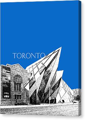 Toronto Skyline Royal Ontario Museum - Blue Canvas Print