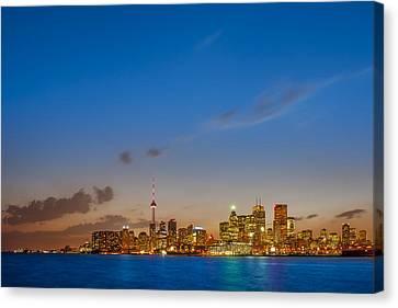 Toronto Skyline Canvas Print by Sebastian Musial