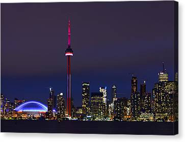 Toronto Skyline Canvas Print by Tony Beck