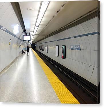Toronto Subway Platform Canvas Print by Valentino Visentini