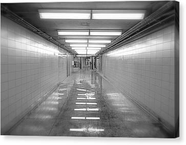 Toronto Subway Tunnel Canvas Print by Valentino Visentini