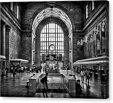 Toronto Union Station 323pm Canvas Print by Brian Carson