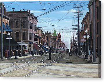 Toronto Yonge And College 1916 Canvas Print by Kenneth M  Kirsch