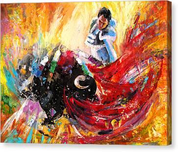 Toroscape 12 Canvas Print by Miki De Goodaboom