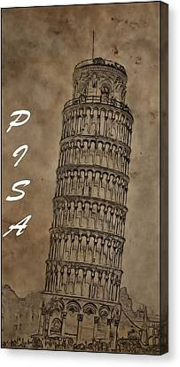 Torre De Pisa Canvas Print