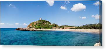 Torre Di Chia With The Saracen Tower Canvas Print by Panoramic Images
