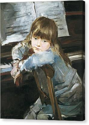 Torrescassana, Francesc 1845-1918. Girl Canvas Print by Everett
