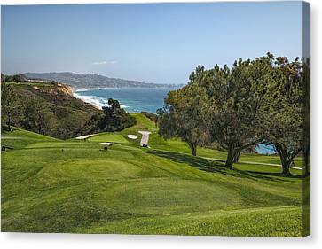 Golf Ball Canvas Print - Torrey Pines Golf Course North 6th Hole by Adam Romanowicz