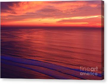 Canvas Print featuring the photograph Torrey Pines Twilight by John F Tsumas