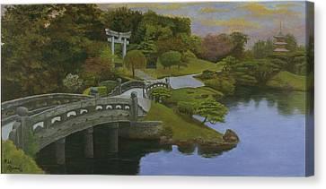 Torii Gate - Shinto Shrine Canvas Print by Rick Fitzsimons