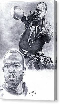 Torry Holt Canvas Print by Jonathan Tooley