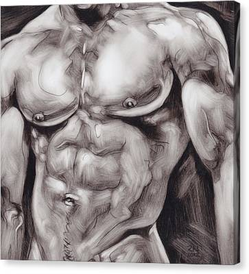 Torso Study Canvas Print by Rudy Nagel