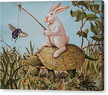 Tortoise And The Hare Canvas Print