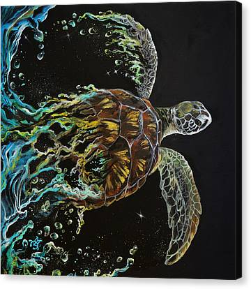 Tortuga Canvas Print by Marco Antonio Aguilar