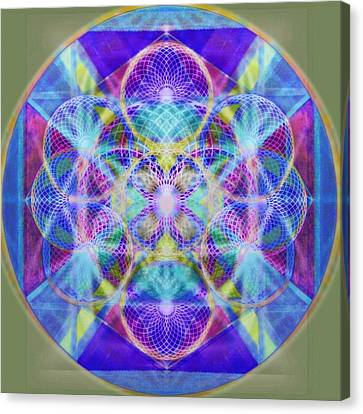 Torusphere Synthesis Vioblu Warrior Soulin II Canvas Print by Christopher Pringer