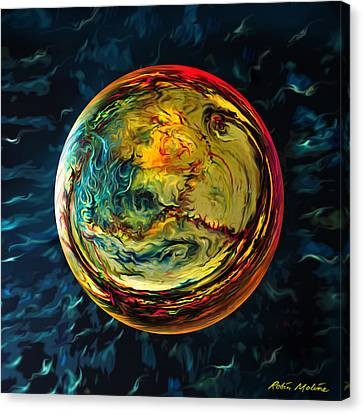 Tossed In The Baltic Sea Canvas Print by Robin Moline
