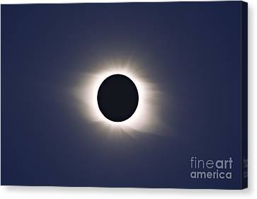 Total Eclipse Of Sun Canvas Print by Alan Dyer