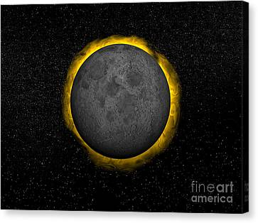 Total Eclipse Of The Sun Canvas Print by Elena Duvernay