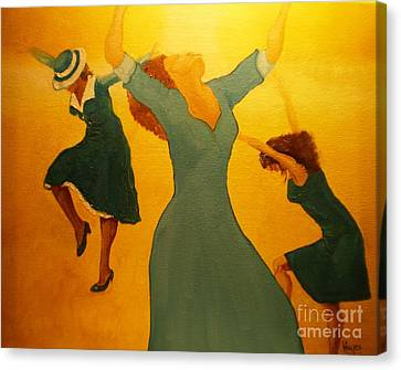 Canvas Print featuring the painting Total Praise by Barbara Hayes