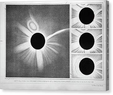 Total Solar Eclipse Of 18 July 1860 Canvas Print