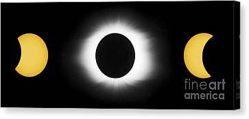 Total Solar Eclipse Sequence Canvas Print