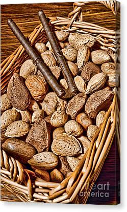 Totally Nuts Canvas Print by Olivier Le Queinec