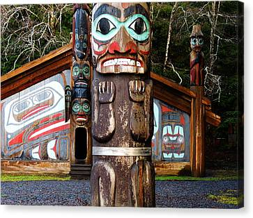 Canvas Print featuring the photograph Totem Bight by Karen Horn