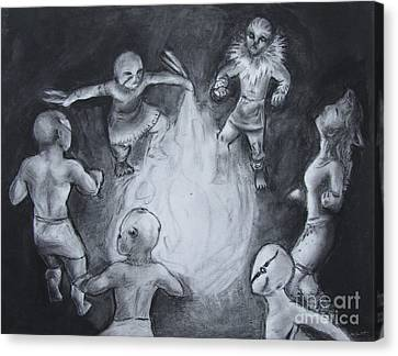 Totem Dancers - Channeling The Spirits Canvas Print by Samantha Geernaert