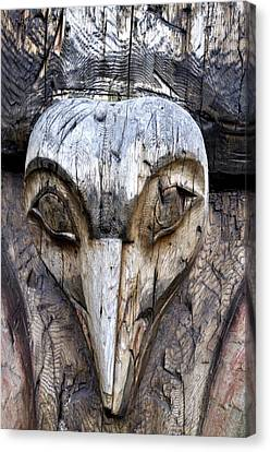 Totem Face Canvas Print by Cathy Mahnke