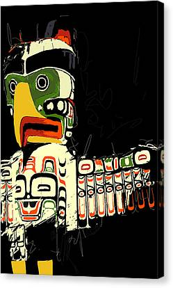 Totem Pole 01 Canvas Print by Catf