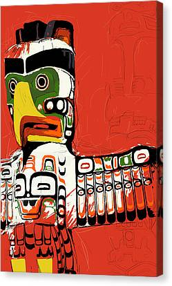 Oil Sketch Canvas Print - Totem Pole 02 by Catf