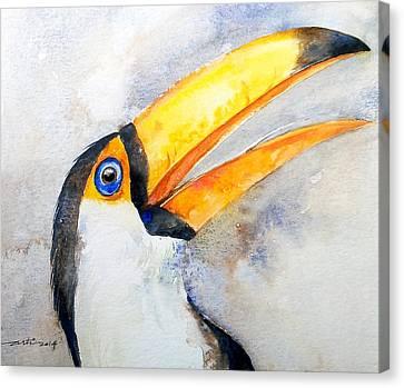 Yellow Beak Canvas Print - Toucan  by Arti Chauhan