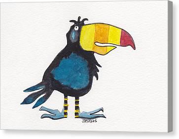 Toucan Cutie Canvas Print by Julie Maas