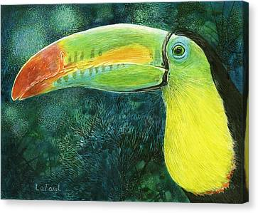 Toucan Canvas Print by Sandra LaFaut