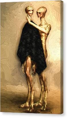 Touch Canvas Print by Bob Orsillo