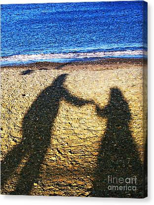Touch Canvas Print by Jo Collins