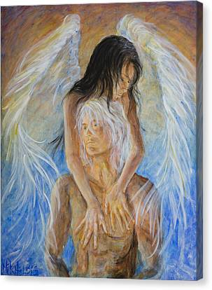 Touch Of An Angel Canvas Print by Nik Helbig