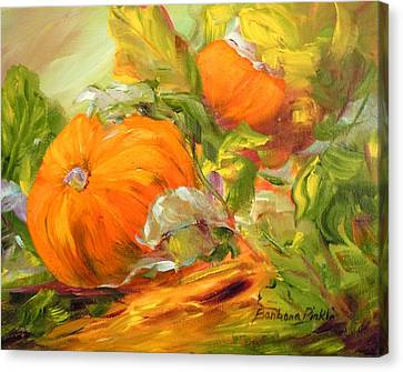 Touch Of Autumn Canvas Print by Barbara Pirkle